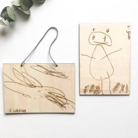 Tekening op hout