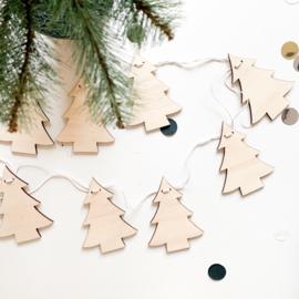 Houten slinger | Kerstboom
