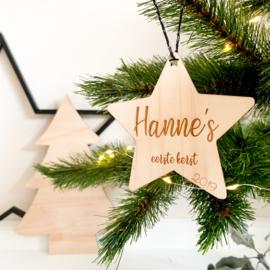 Houten kerstster | 1e kerst