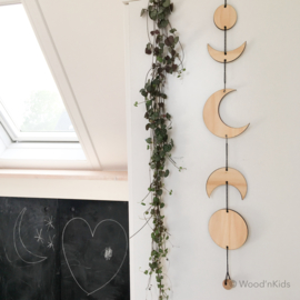 Houten mobile | Moon