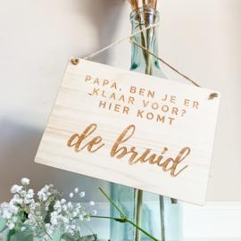 Houten bord bruidskinderen | Bruid