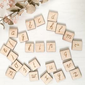 Houten schrijf letters