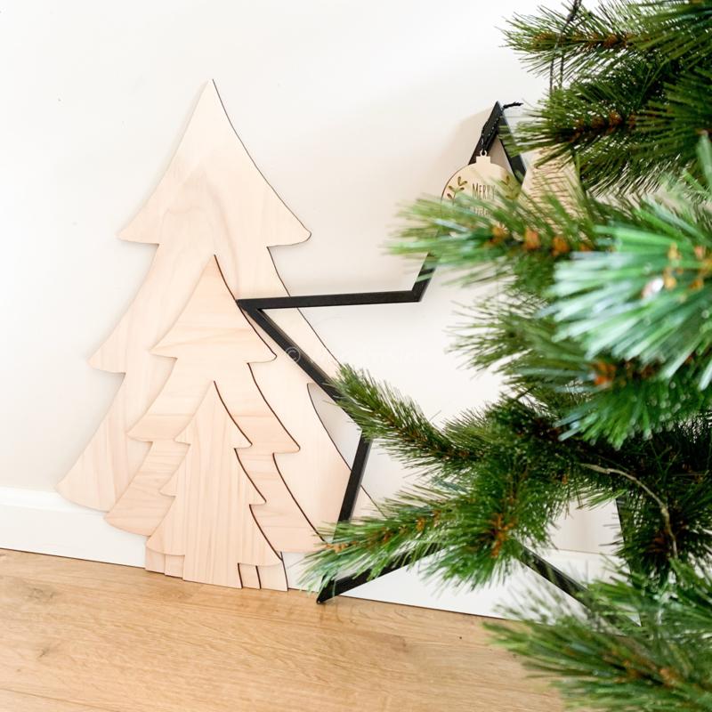 Houten kerstboom | Combinatie pakket
