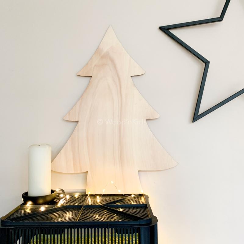 Houten kerstboom   Groot