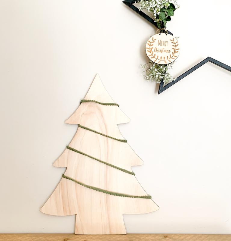 Houten kerstboom | Middel