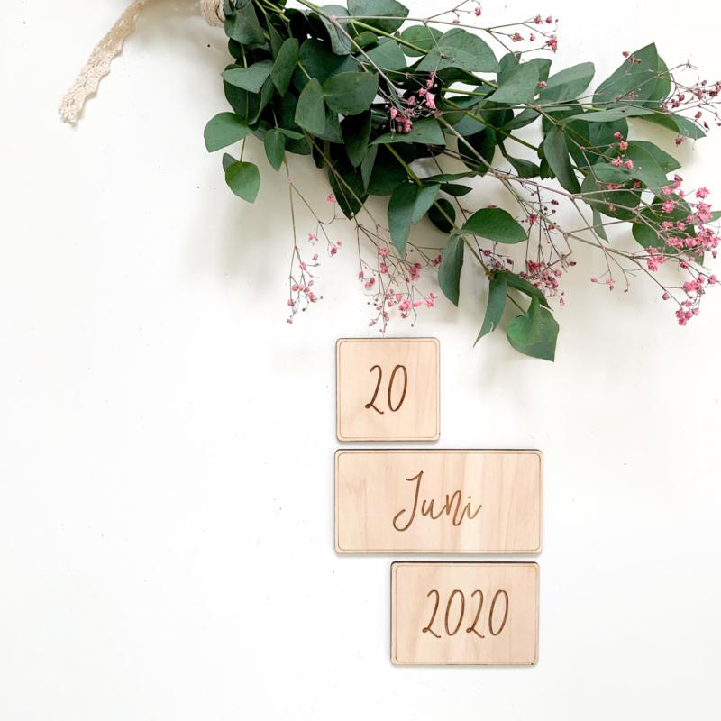 Houten datum kaarten | Save the date
