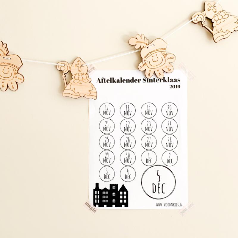 Aftelkalender Sinterklaas (gratis)
