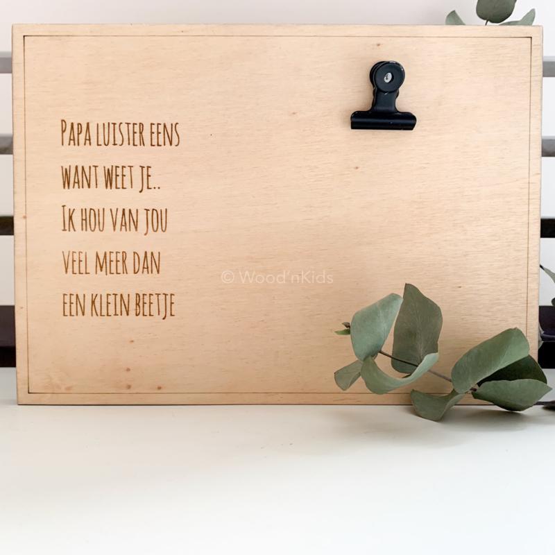 Clipboard | Tekst voor papa