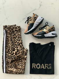 """ROAR NO.11""  Leopard Black or White T-Shirt"