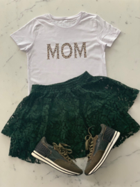 """MOM""  Leopard Black or White T-shirt"