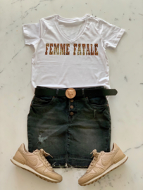 """FEMME FATALE""  Tijger Black or White T-Shirt"