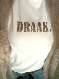 """DRAAK"" T-shirt Black or White"