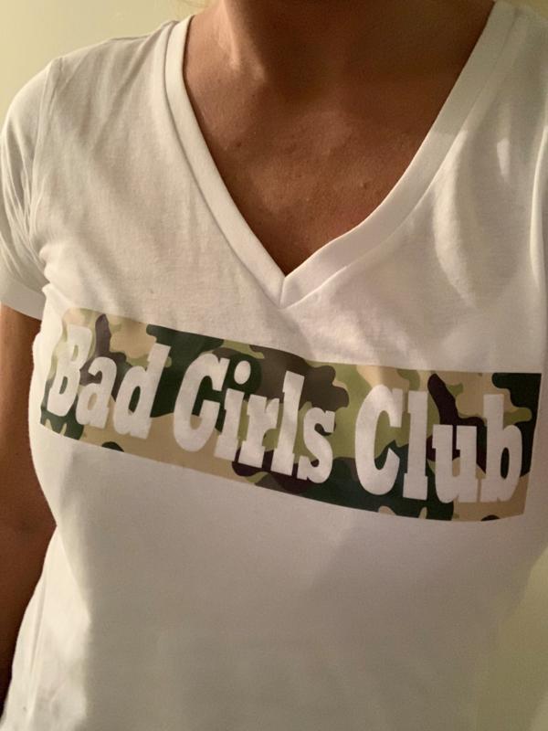 """Bad Girls Club"" T-shirt black or white"