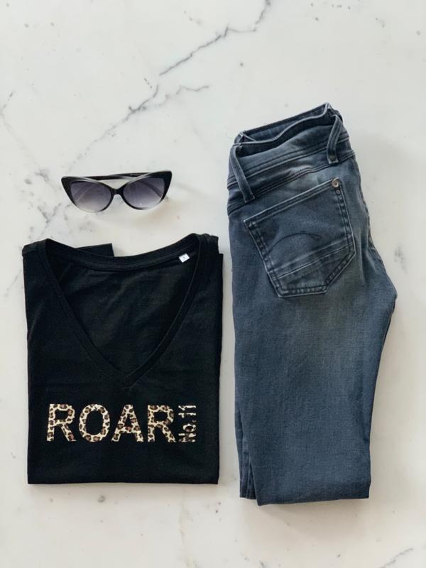 """ROAR NO.11""  Leopard Black or White T-Shirt"