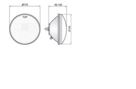 Koplamp blaker, glas met reflector