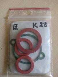 Pakkingset izh carburateur K28 met vlotterkamer rond 40mm