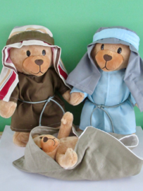 Kledingset Beer Kiki: Jozef, Maria en Jezus