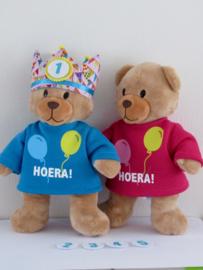 Verjaardagsshirt + verjaardagskroon | Beer Kiki
