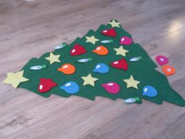 Kerstboom van vilt voor op de vloer + versieringen | 3mm dik