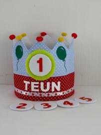 Verjaardagsmuts met cijfers
