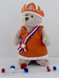 Koningsdag jurk, sjerp en kroon | Beer Kiki