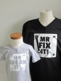 T-shirt set | Mr. break it! + Mr. fix it!  (zoon + vader)