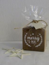 Waxinelicht van hout | Kerst