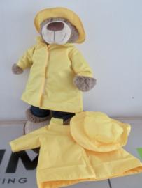Regenjas + hoed voor beer Bella