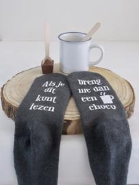 Set sokken met tekst