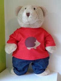 Shirt  met egel voor Kiki