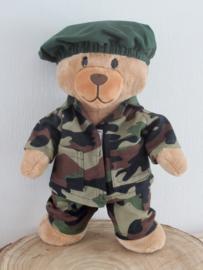 Legerkleding voor beer Kiki