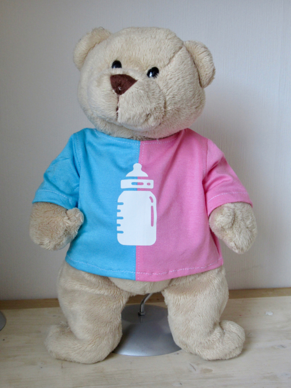 Shirt met (Baby)fles v. beer Kiki