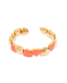 Triangle Enamel Orange bracelet