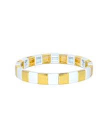 Gabriella gold white bracelet