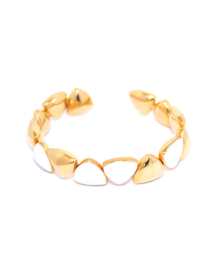Triangle Enamel white bracelet