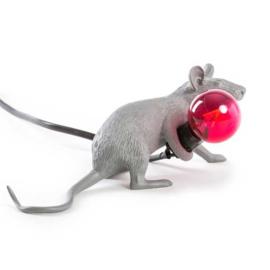 Mouse lamp liggend - grijs