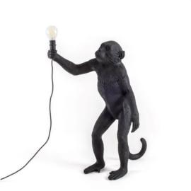 Monkey lamp staand - zwart