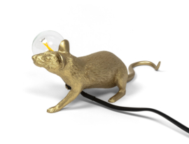 Mouse lamp liggend - goud