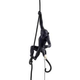 Monkey lamp aan touw - zwart