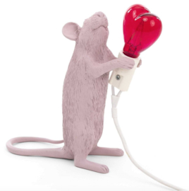 Mouse lamp Limited roze love