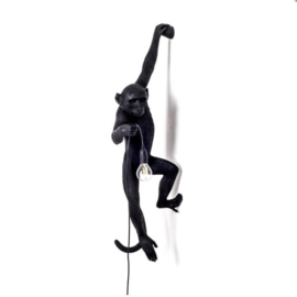 Monkey lamp hangend - zwart