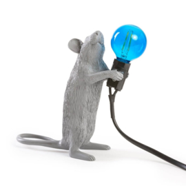 Mouse lamp staand - grijs