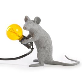 Mouse lamp zittend - grijs