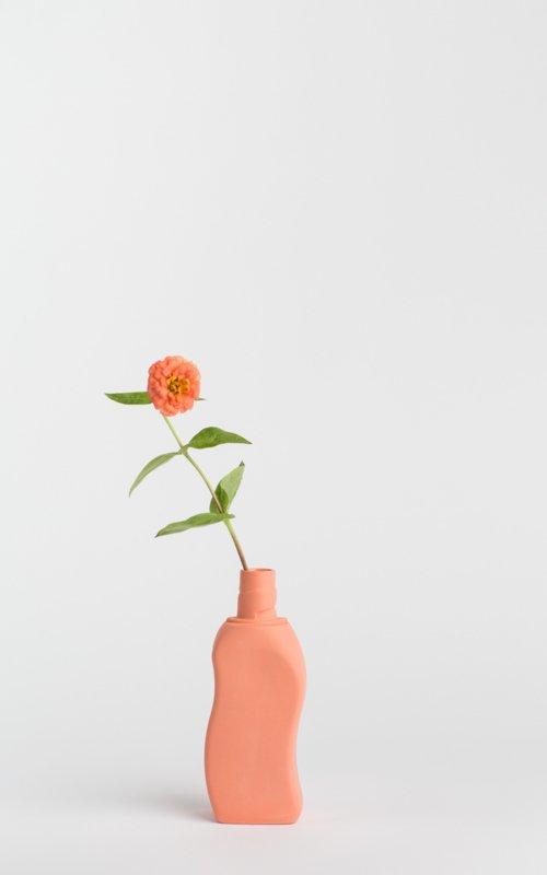 Bottle vase - salmon #12