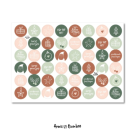 Stickervel - Kerst sluitzegels