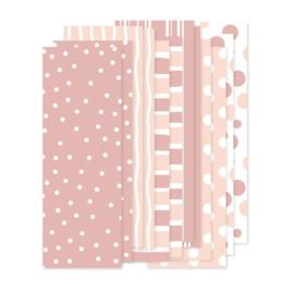 Papierstroken roze (12 stuks)