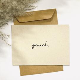 Ansichtkaart - Geniet