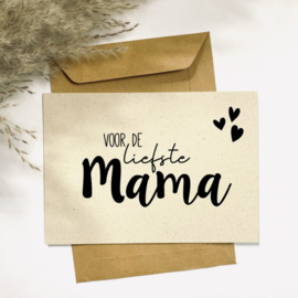 Ansichtkaart - Voor de liefste mama