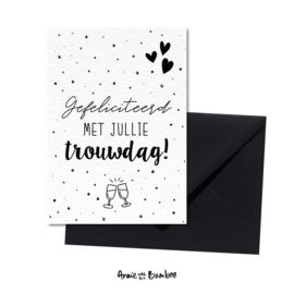 Wenskaart - Gefeliciteerd met jullie trouwdag
