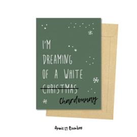 Kerstkaart - White Chardonnay